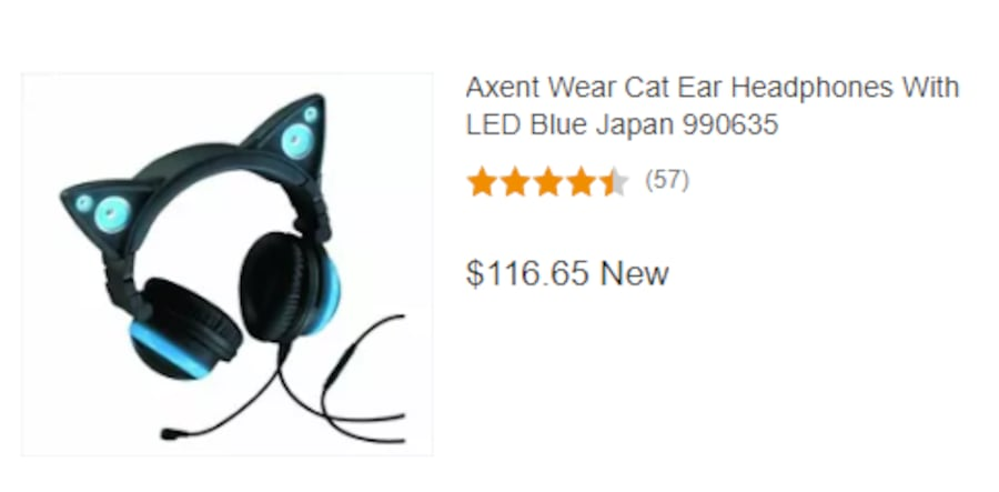 Axent Cat Ear Headphones With blue LED and speakers b249f476-52df-4790-8a33-6bbc5300c9f1