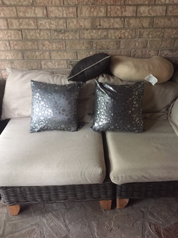 Two silver pillows
