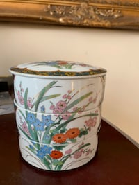 Vintage 3-Tier Floral Jewelry Box Japan Stackable TORONTO