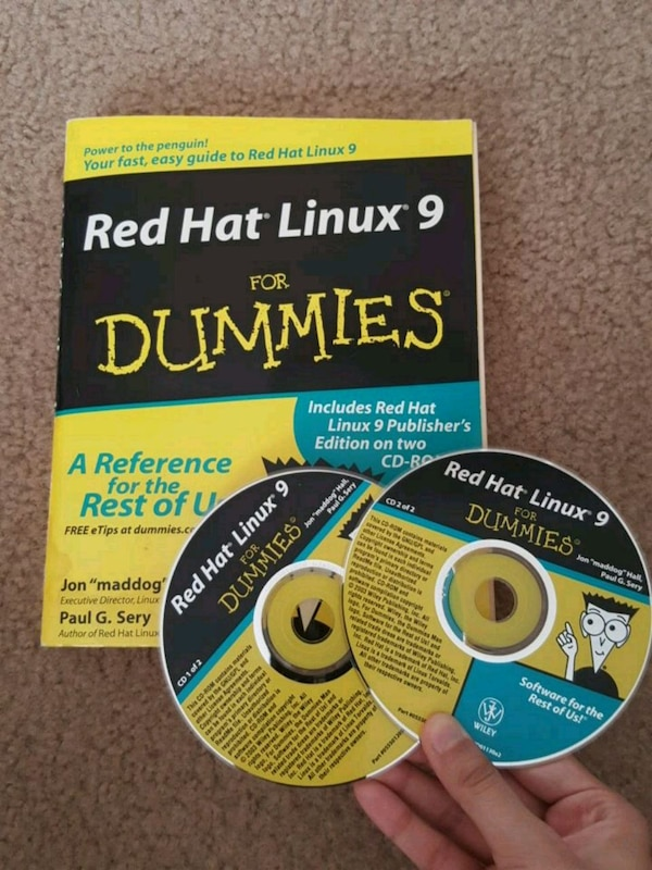 Red Hat Linux 9 for Dummies + Publisher's ed CDs