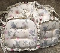 4 Thick Ruffled Floral Wide Chair Cushions Baltimore, 21222