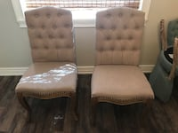 2 tufted and upholstered end chairs for dining room table Delray Beach, 33446