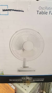 """Table Fan 12"""" Oscillating Stand New Open Box"""