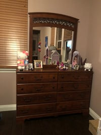brown wooden 8-drawer vanity chest Simi Valley, 93065