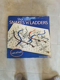 Snakes 'n' Ladders shot glass box Langley, V1M 1W2