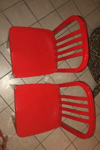 3 high red accent chairs  Germantown, 20874