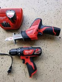 Milwaukee 12volt drill/driver and hackzall Charles Town, 25414