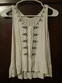 white and black floral tank top Omaha, 68111