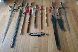 Sword and knife collection