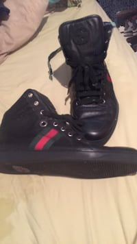 Size 12 1/2 Gucci shoe black leather