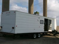 white and brown camper trailer Corpus Christi, 78418