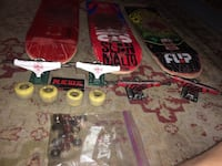 3 skateboards 2 pairs of trucks and a lot of bearings Albuquerque, 87109