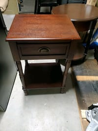 Square end table with drawer and bottom shelf