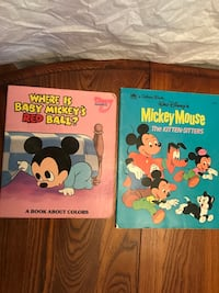 "Vintage 1976 & 1987 walt disney books, ""the kitten sisters"" & ""where is baby mickey's red ball?"" Brazoria, 77422"