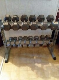 Weights with rack included. 10-40lbs Warsaw, 22572