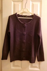 women's sweater...size large...dark brown Vaughan