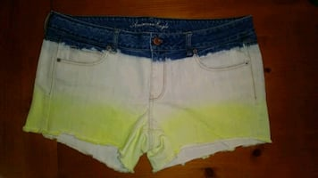 American Eagle jean ombre shorts