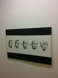 Art on canvas. African American black art