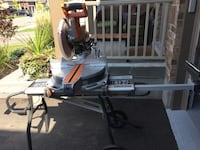 "Ridgid 12"" double bevel compound miter saw with mobile stand New Tecumseth, L9R 0P8"