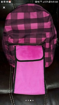 Back pack with lunch bag