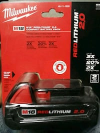 Milwaukee New never used M18 cordless battery