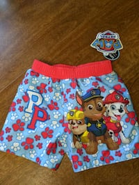 NEW WITH TAGS paw patrol swimming trunks Dracut, 01826