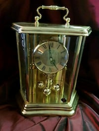 Vintage Solid Brass Bulova Clock West Germany  Niagara Falls