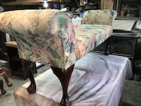 brown and green floral fabric sofa chair Dover, 07801