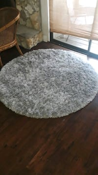 round gray and brown area rug Longwood, 32779