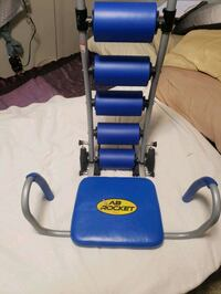 AB ROCKET CHAIR AND GOLDS GYM DOOR WAY PULL UP BAR