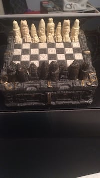 Brown and black chess board with piece set Lorton, 22079
