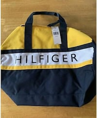 Blue and yellow Tommy hilfiger duffle bag Eagle Mountain, 84005