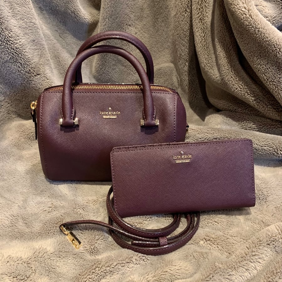 Kate Spade Purse and Wallet - Deep Purple Wine colour