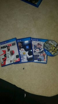 three Sony PS4 game cases Leesburg, 20176