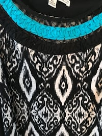 black and white tribal print skirt Reston, 20191