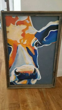 Abstract cow painting  Dallas, 75252