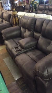 black leather 3-seat recliner sofa Front Royal, 22630