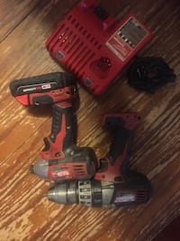 red and black Milwaukee cordless power drill Surrey, V3R 2K8