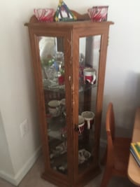 brown wooden framed glass display cabinet Arlington, 22206
