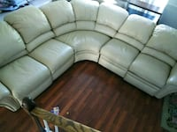 brown leather 4-seat recliner sofa Orlando, 32822