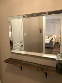 white wooden framed wall mirror Blainville, J7C 3J3