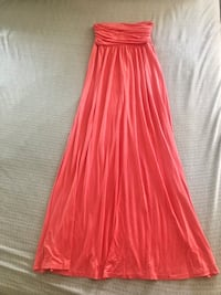 Brand new Coral strapless tube maxi dress for party wedding  Union City, 94587