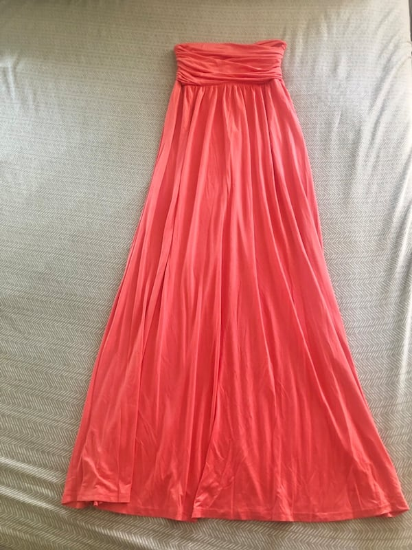 Brand new Coral strapless tube maxi dress for party wedding aaac4294-0a63-4b53-852d-64bf2a26732f