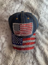 American Flag Bedazzled Hat
