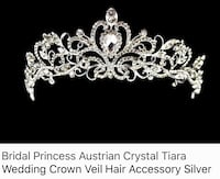 Silver Australian Crystal Tiara Wedding Crown