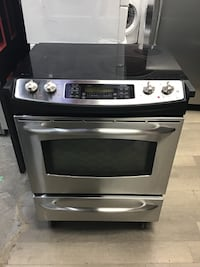 "30"" GE PROFILE SLIDE IN GLASS TOP STOVE- BESTMAN APPLIANCES"
