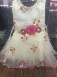 White and pink floral dress Hyderabad, 500036