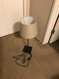 black and white table lamp