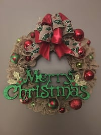 green and red floral wreath Paris, N3L 4C9