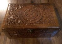 BRAND NEW Hand Carved Wooden Jewelry Box Mississauga